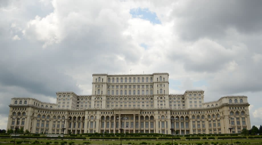 Parliament house Bucharest Romania Peoples house